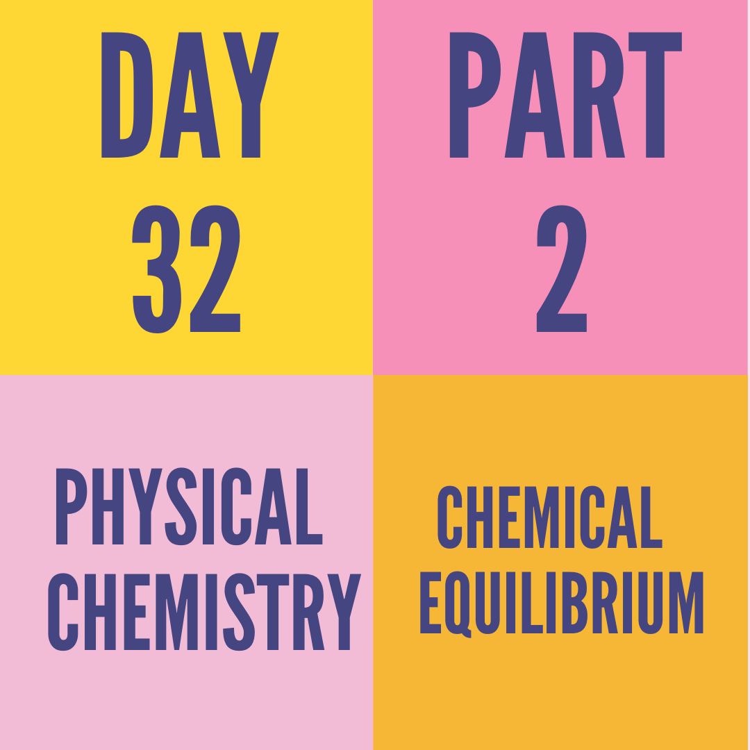 DAY-32 PART-2 CHEMICAL EQUILIBRIUM
