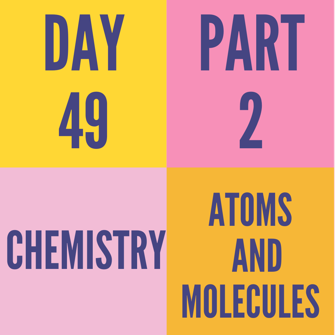 DAY-49 PART-2 ATOMS AND MOLECULES