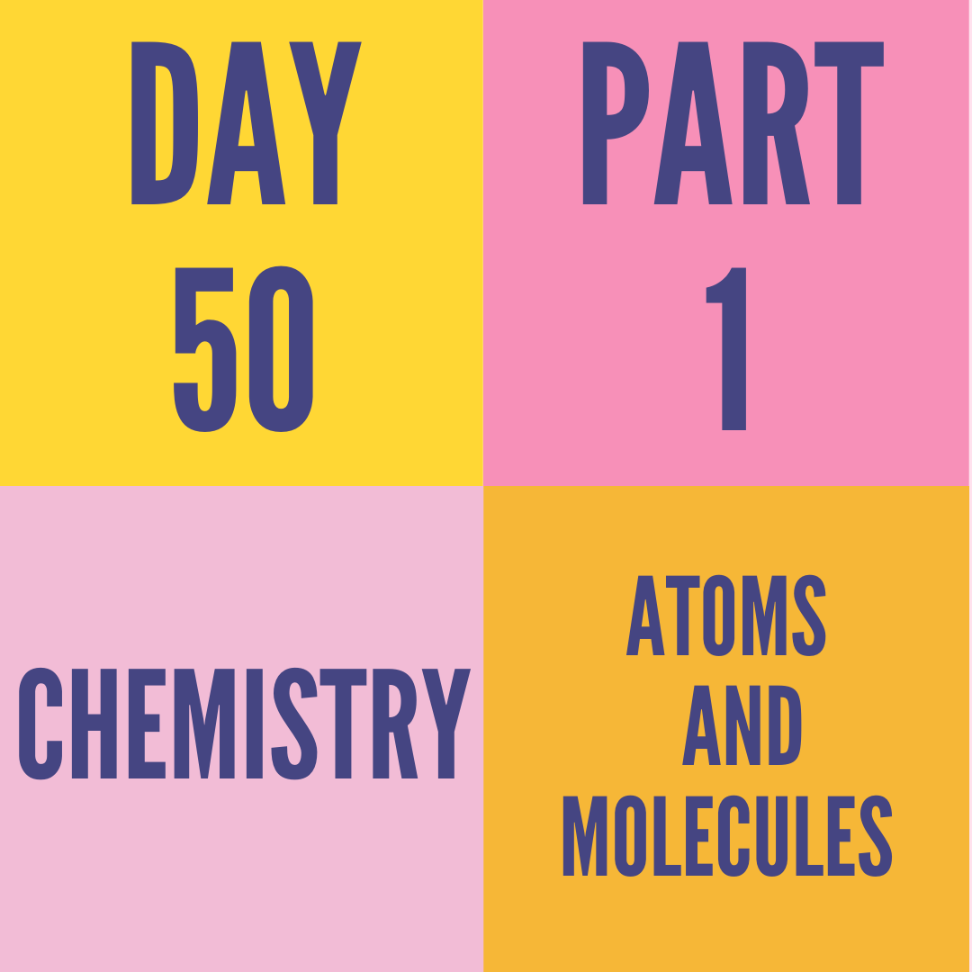 DAY-50 PART-1 ATOMS AND MOLECULES