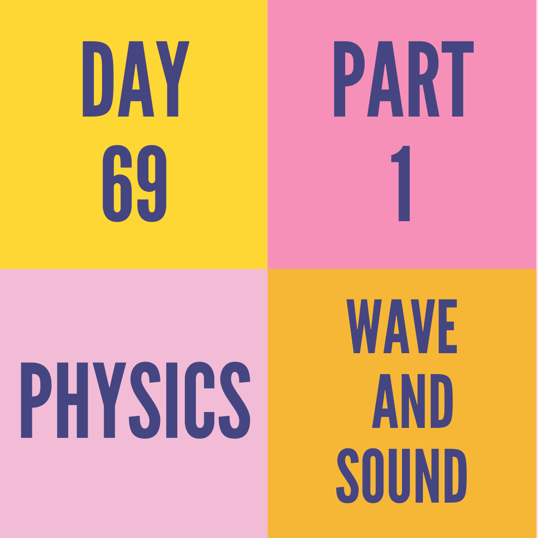 DAY-69 PART-1 WAVE AND SOUND