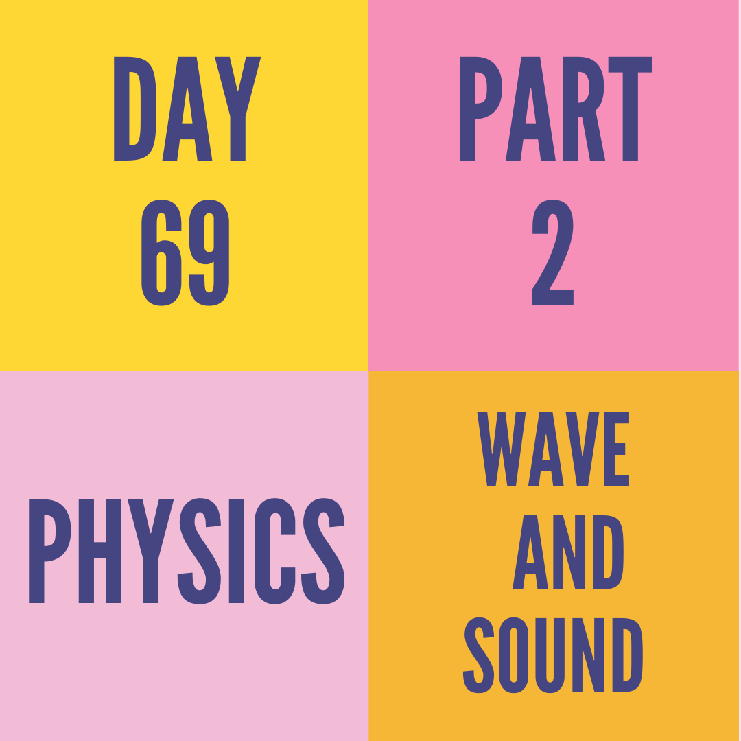 DAY-69 PART-2 WAVE AND SOUND
