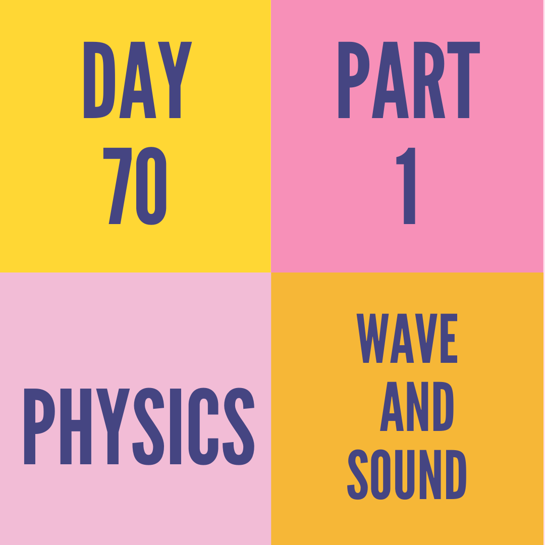 DAY-70 PART-1 WAVE AND SOUND
