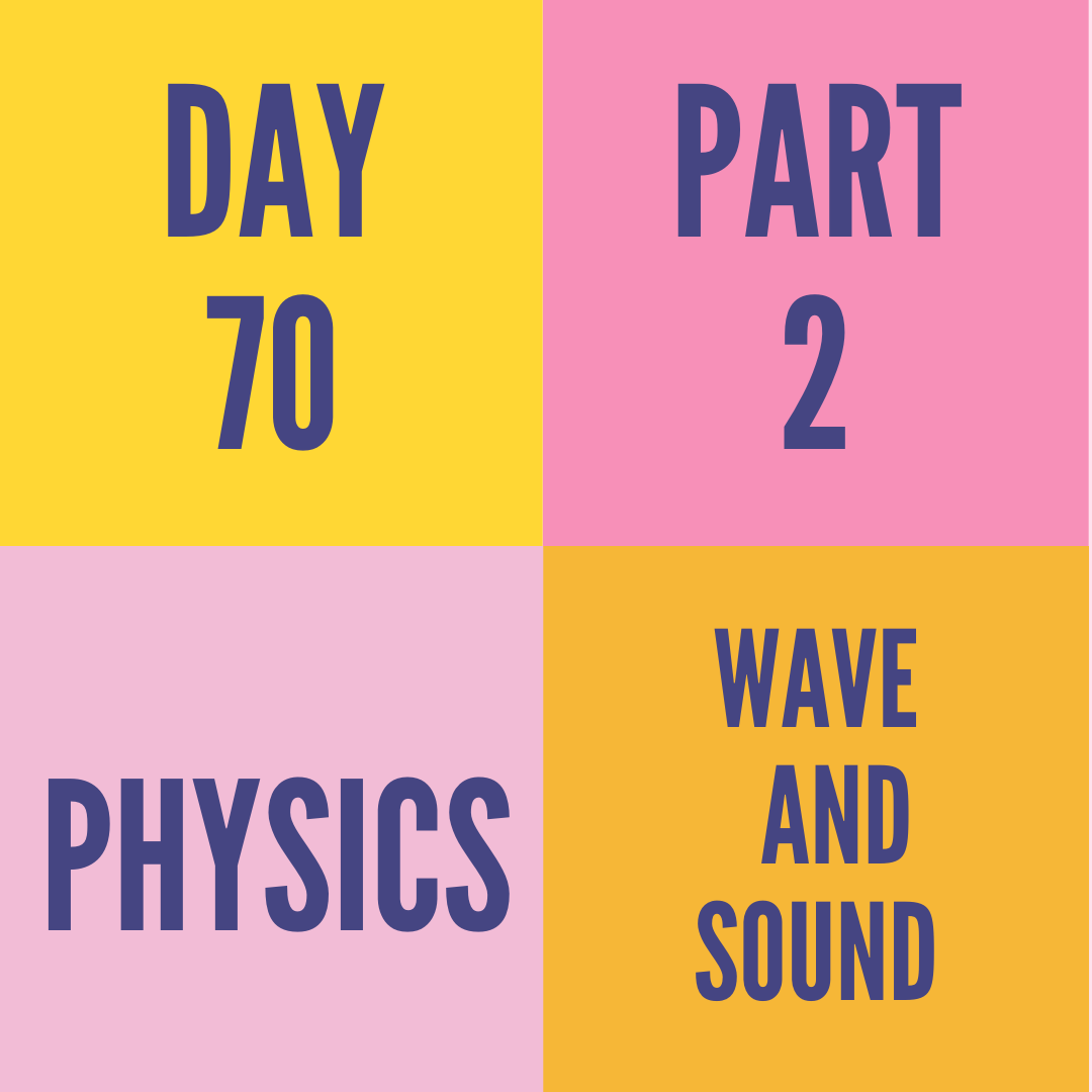 DAY-70 PART-2 WAVE AND SOUND