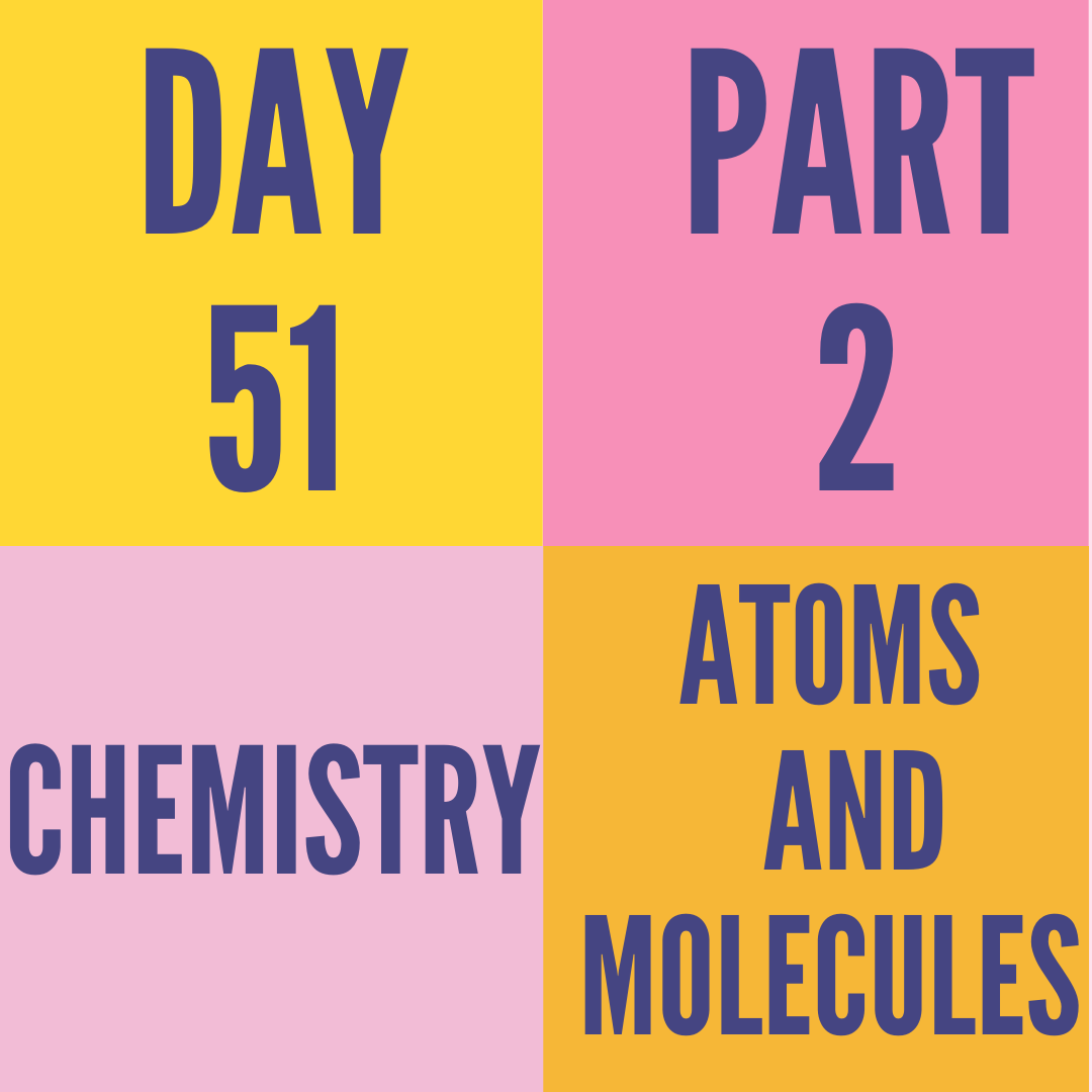 DAY-51 PART-2 ATOMS AND MOLECULES