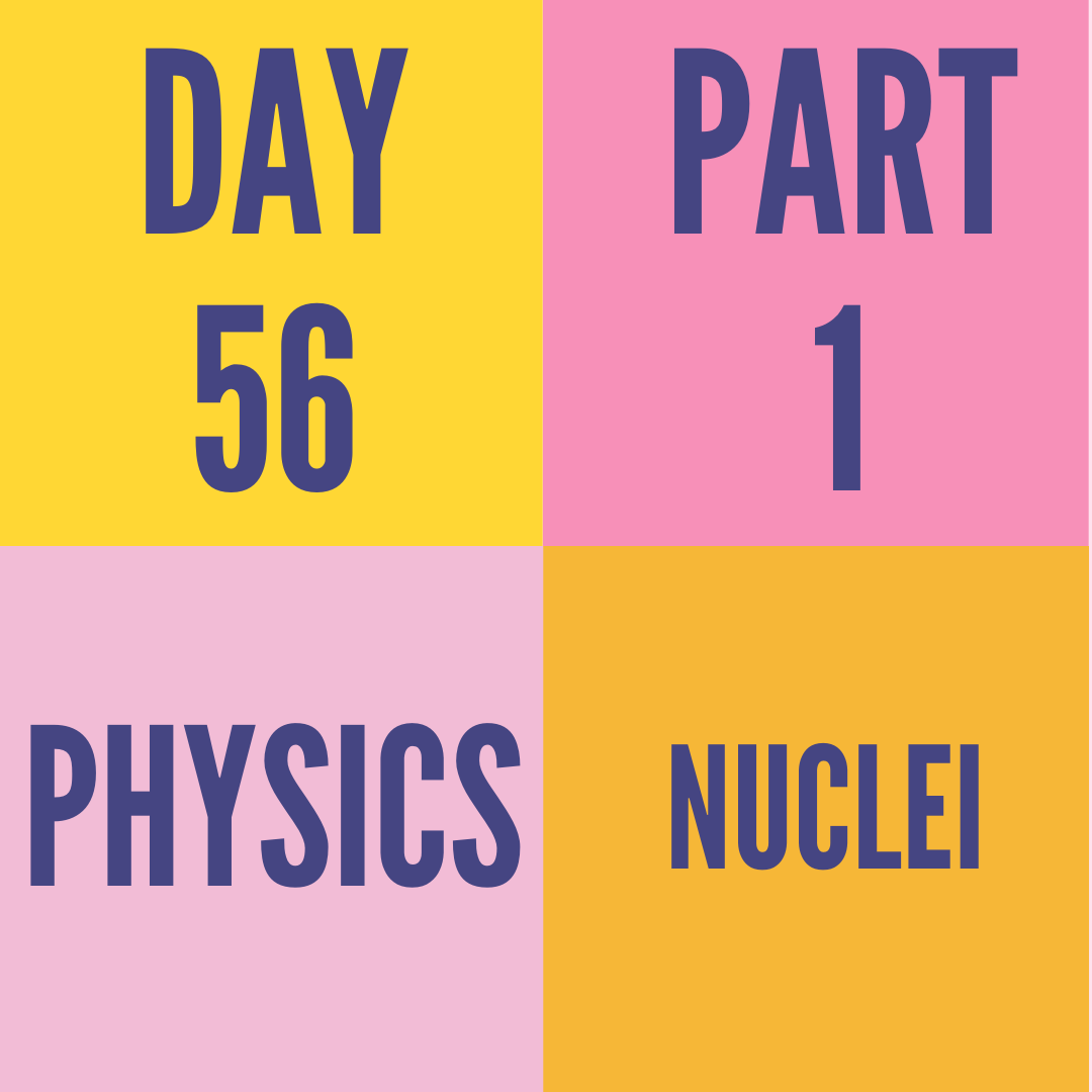 DAY-56 PART-1 NUCLEI