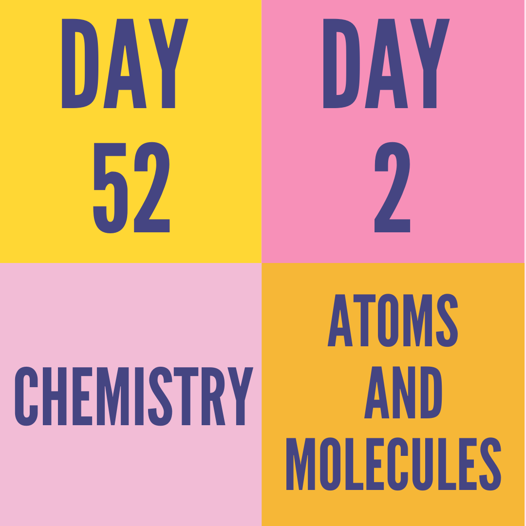 DAY-52 PART-2 ATOMS AND MOLECULES