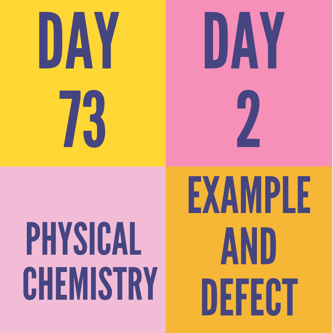 DAY-73 PART-2 EXAMPLE AND DEFECT