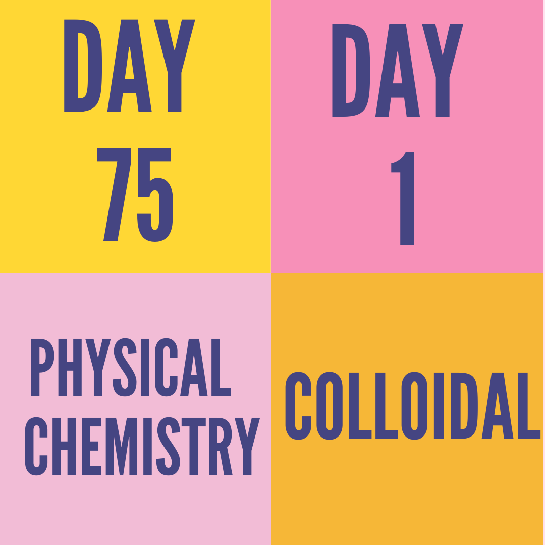DAY-75 PART-1  COLLOIDAL