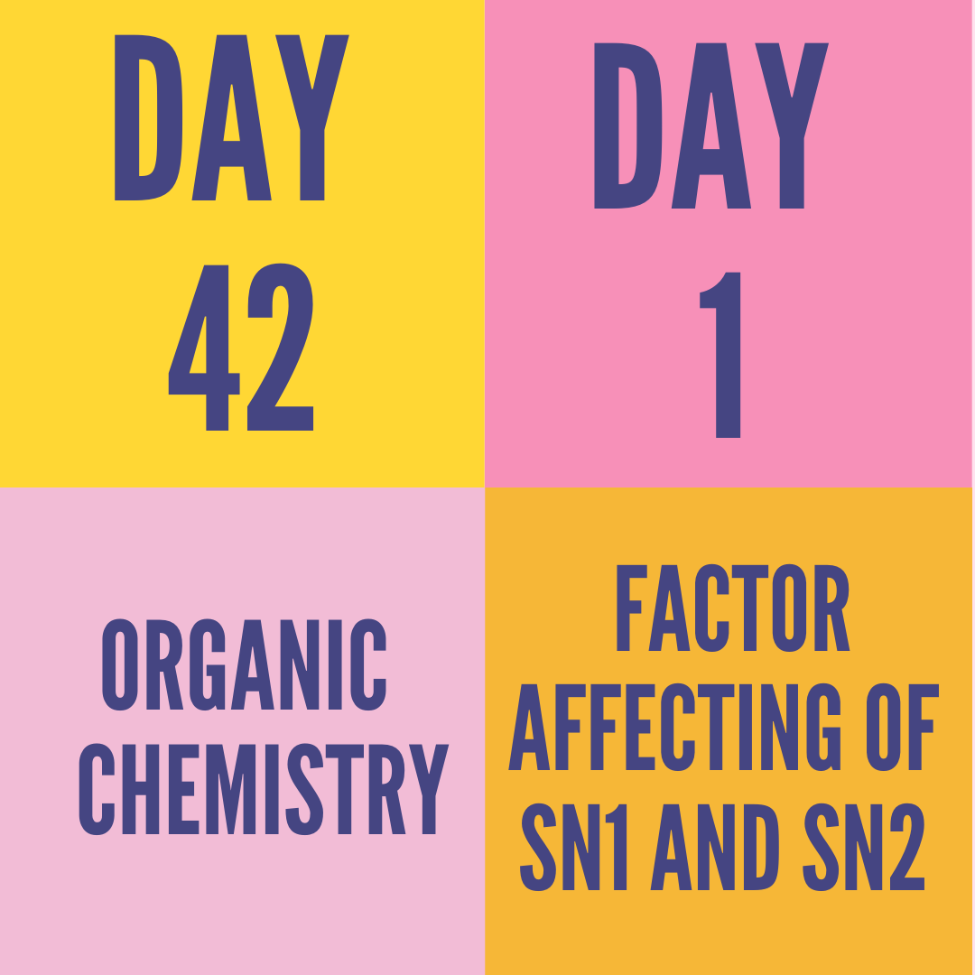 DAY-42 PART-1 FACTOR AFFECTING OF SN1 AND SN2