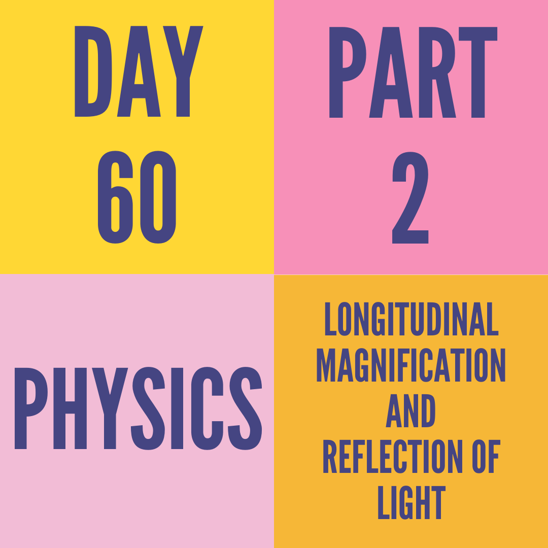 DAY-60 PART-2 LONGITUDINAL MAGNIFICATION AND REFLECTION OF LIGHT