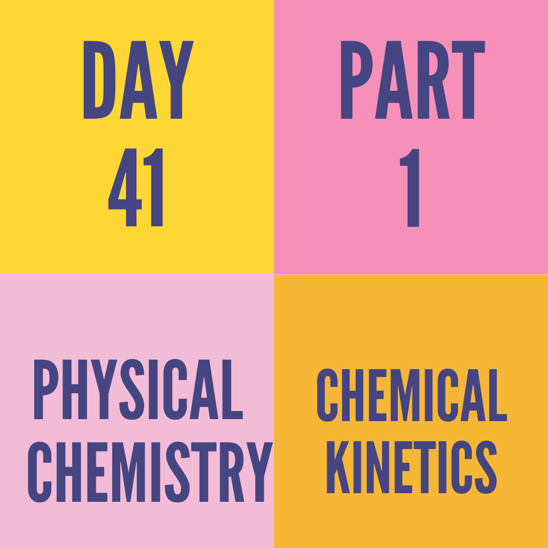 DAY-41 PART-1 CHEMICAL KINETICS