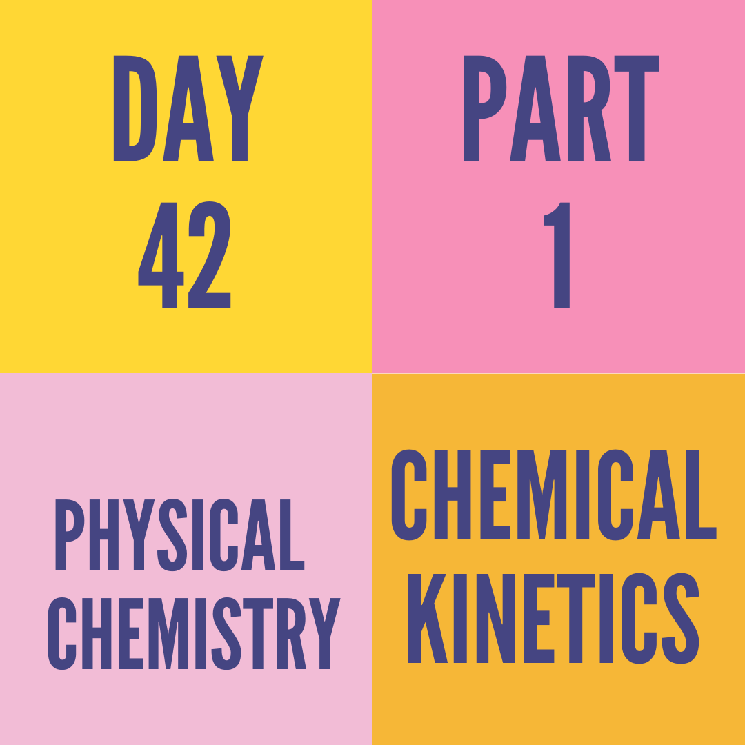 DAY-42 PART-1 CHEMICAL KINETICS