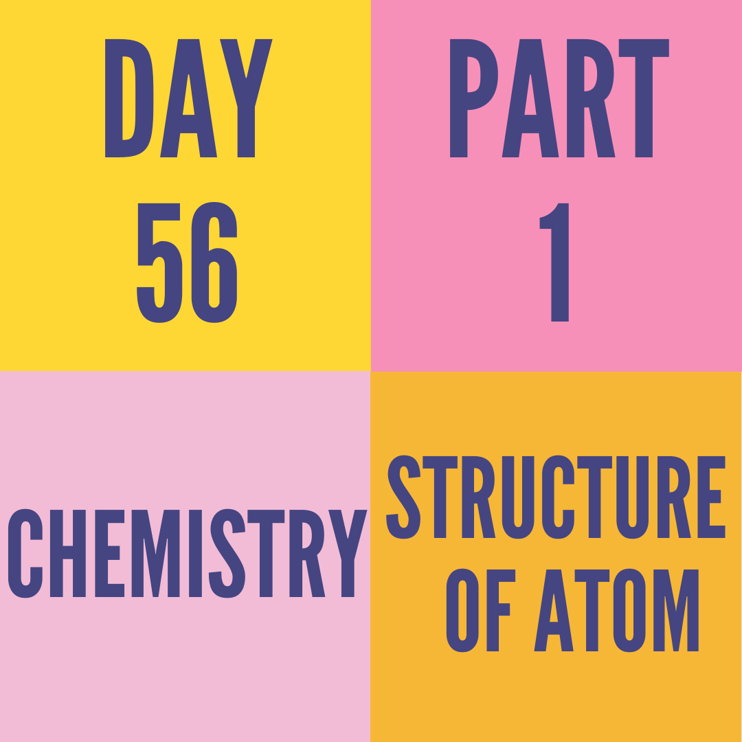 DAY-56 PART-1 STRUCTURE OF ATOM