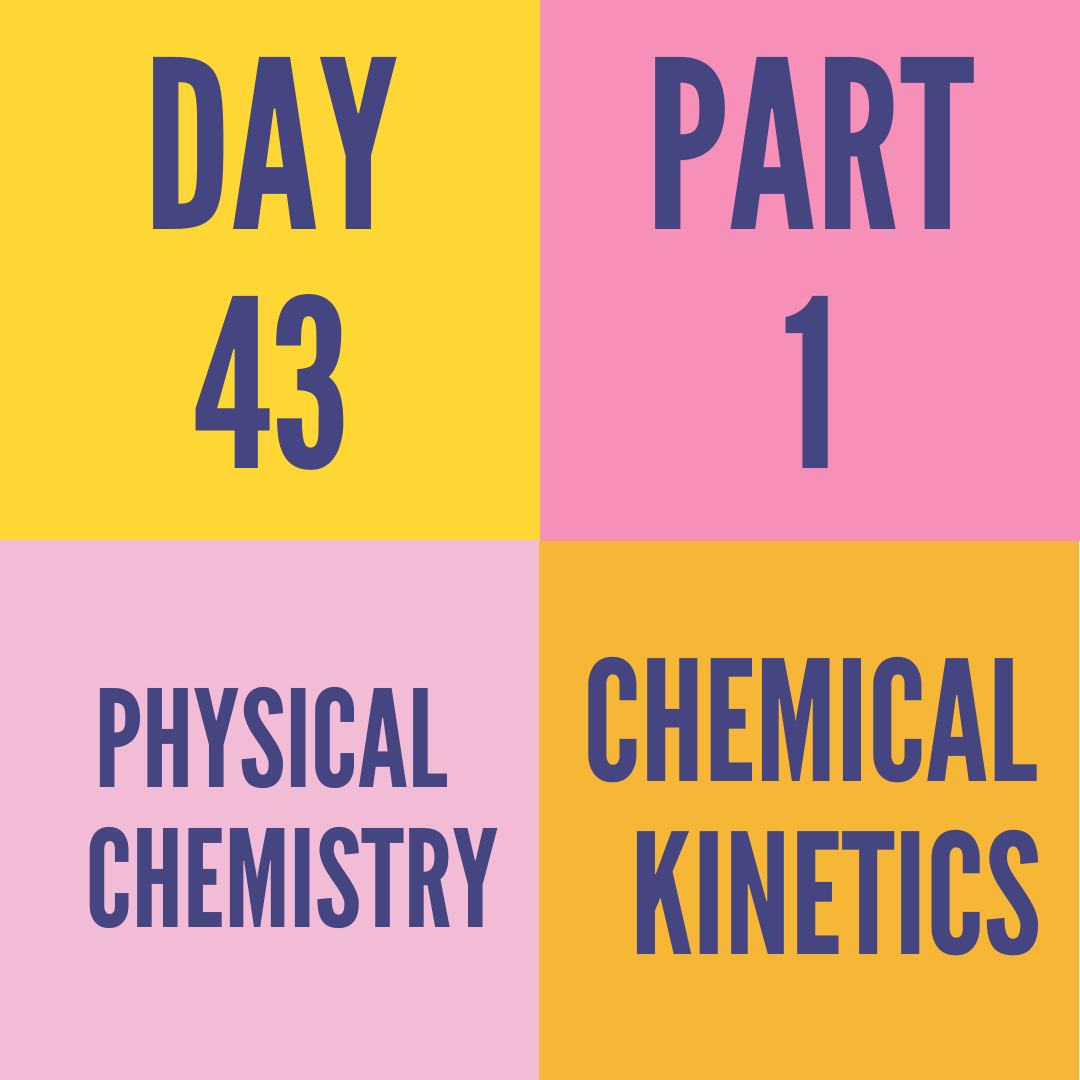 DAY-43 PART-1 CHEMICAL KINETICS