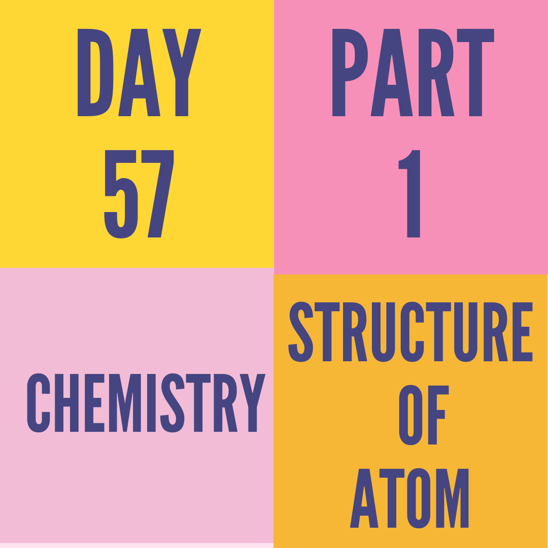 DAY-57 PART-1 STRUCTURE OF ATOM
