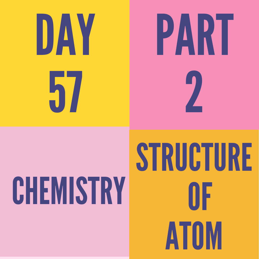 DAY-57 PART-2 STRUCTURE OF ATOM