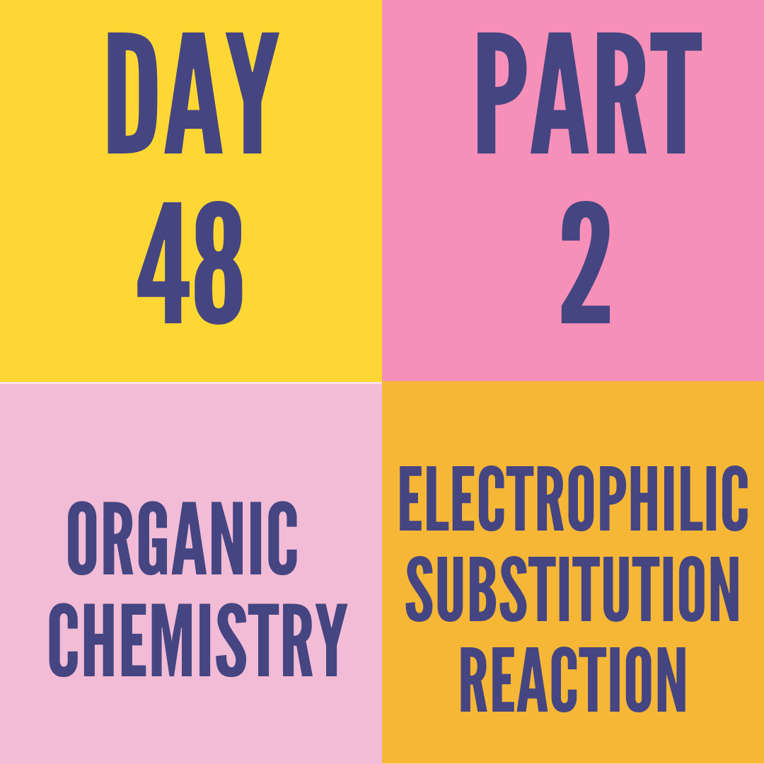 DAY-48 PART-2 ELECTROPHILIC SUBSTITUTION REACTION