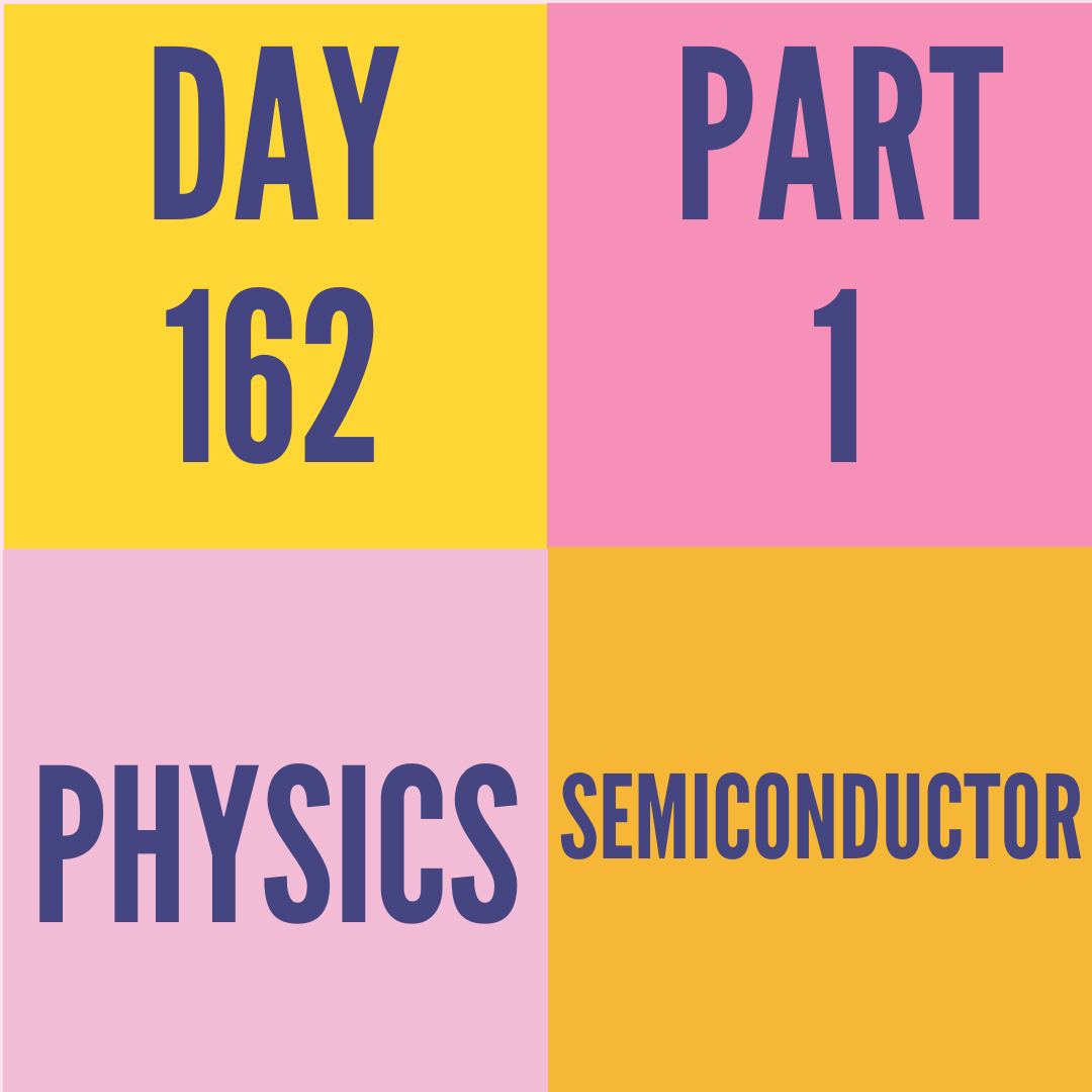 DAY-162 PART-1 SEMICONDUCTOR