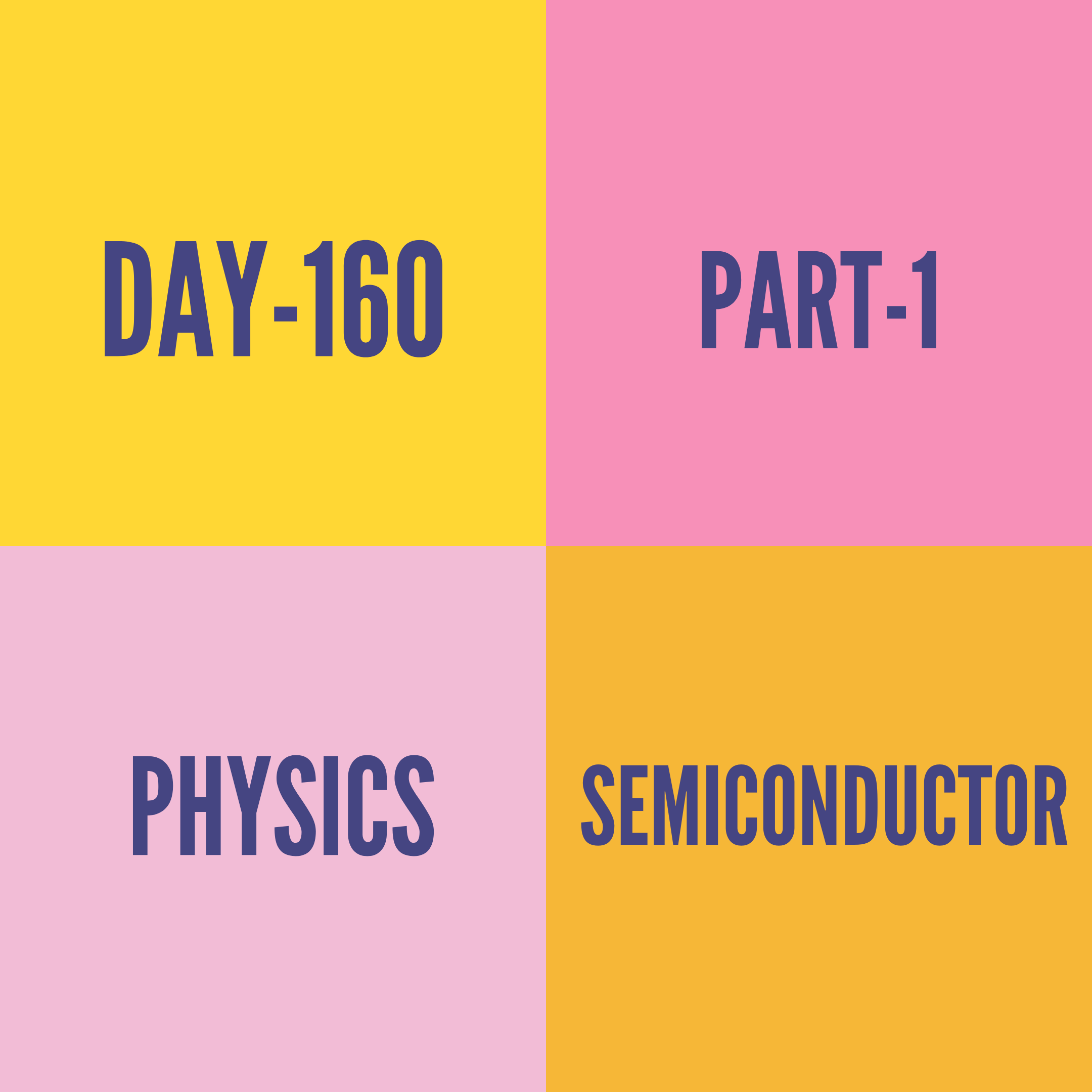 DAY-160 PART-1 SEMICONDUCTOR