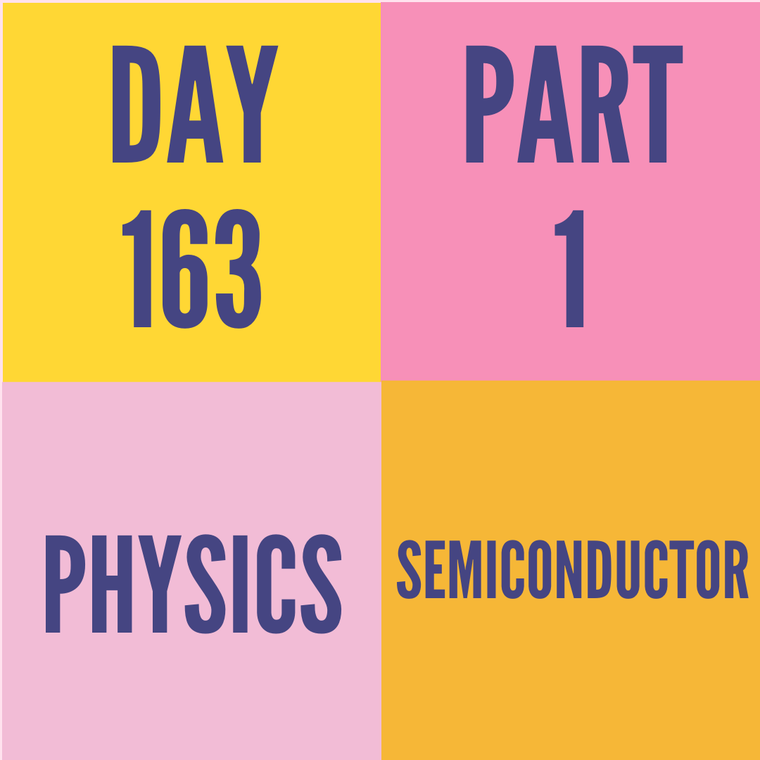 DAY-163 PART-1 SEMICONDUCTOR