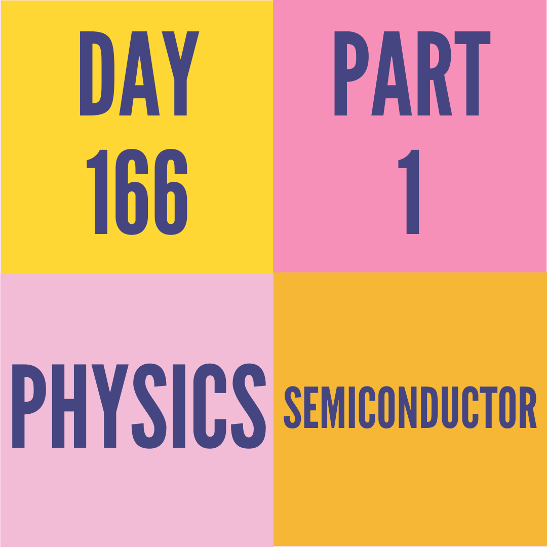 DAY-166 PART-1 SEMICONDUCTOR