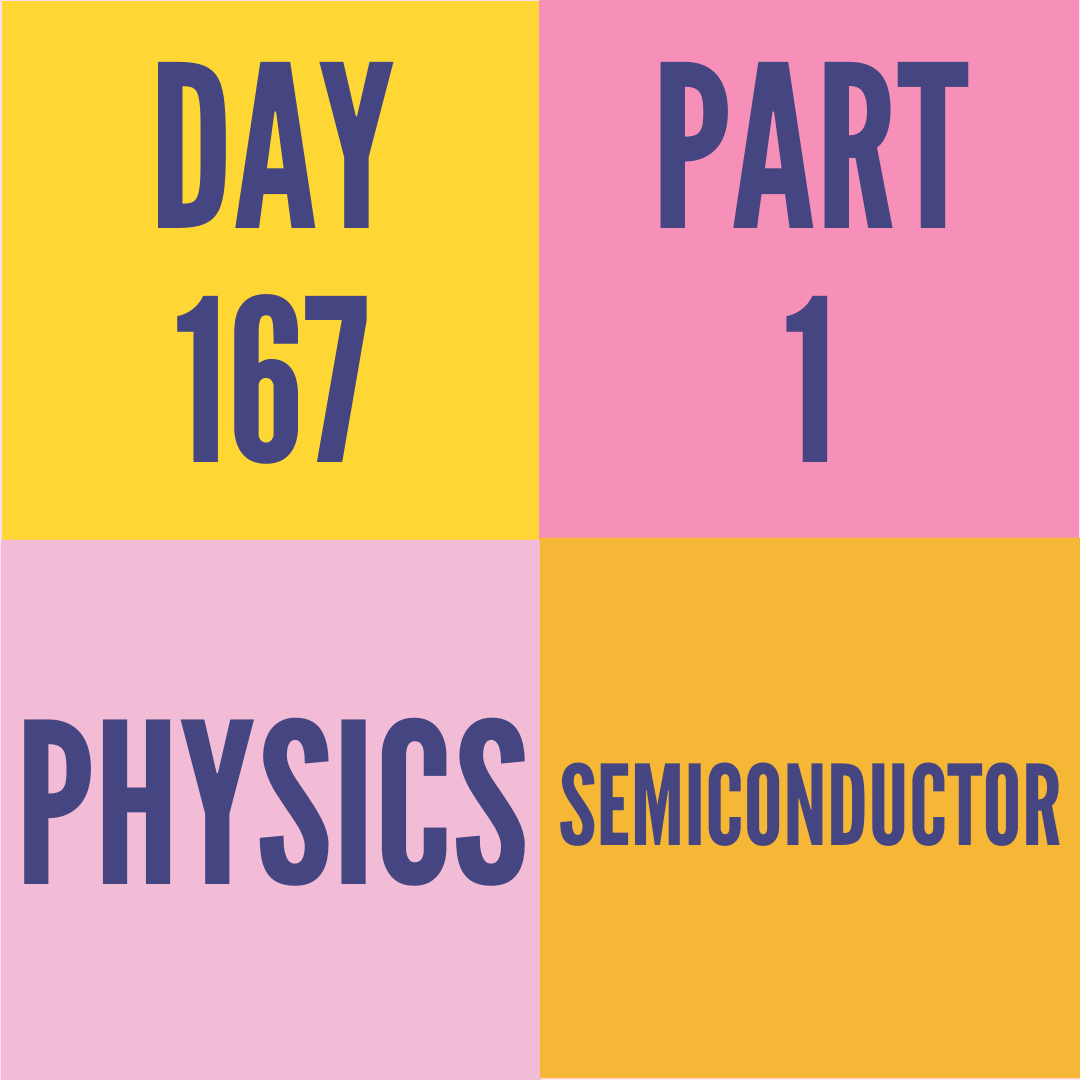 DAY-167 PART-1 SEMICONDUCTOR