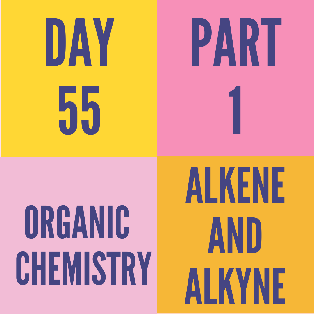 DAY-55 PART-1 ALKENE AND ALKYNE