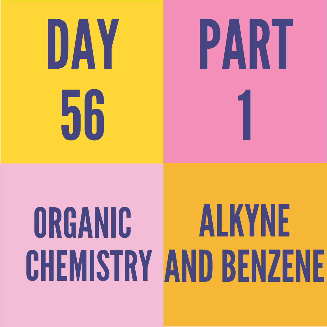 DAY-56 PART-1 ALKYNE AND BENZENE
