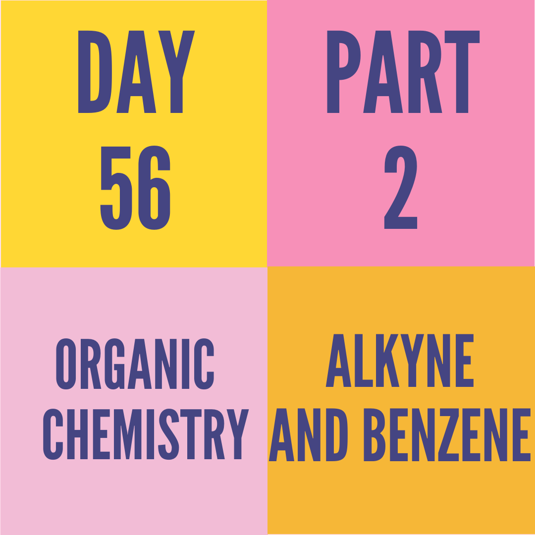 DAY-56 PART-2 ALKYNE AND BENZENE
