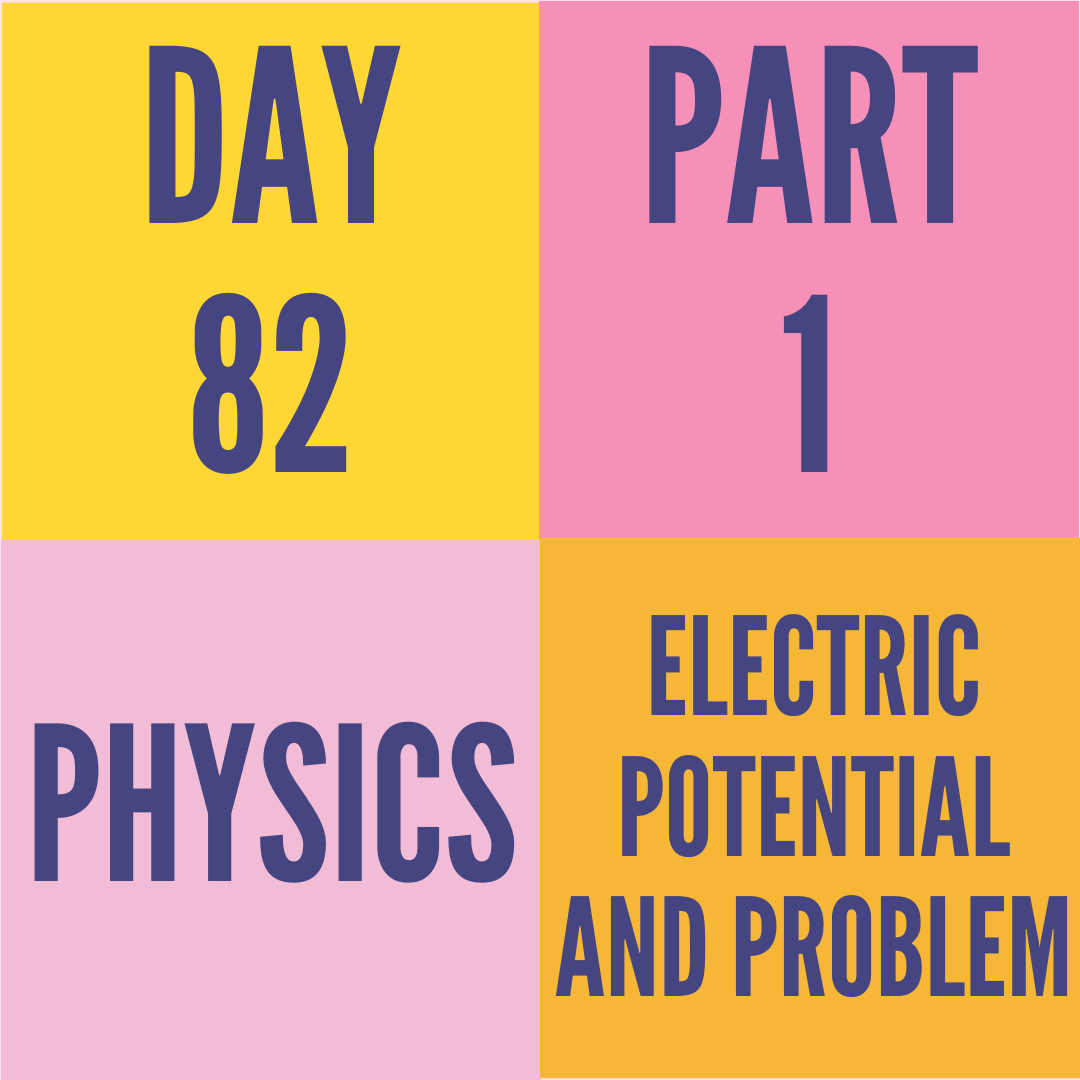 DAY-82 PART-1 ELECTRIC POTENTIAL AND PROBLEM