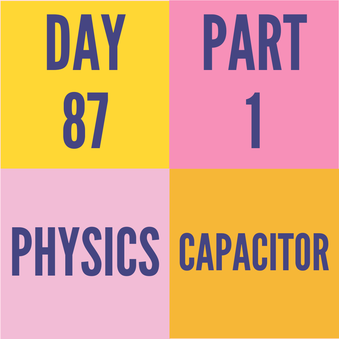 DAY-87 PART-1 CAPACITOR