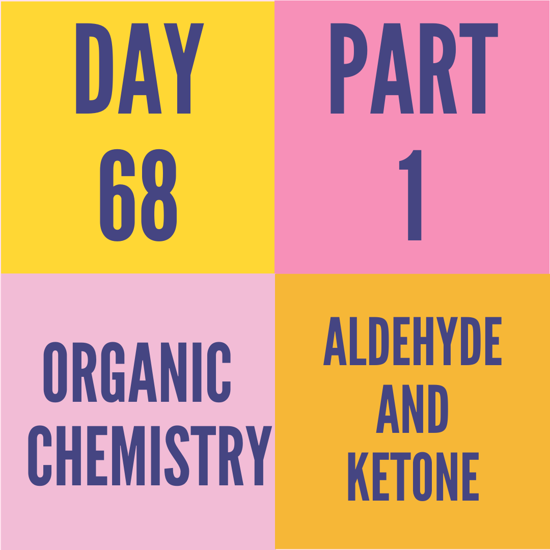DAY-68 PART-1 ALDEHYDE AND KETONE