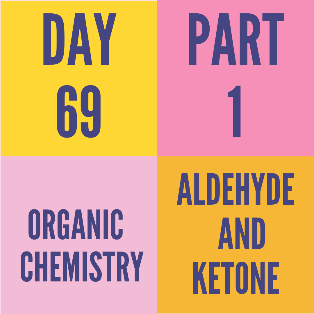 DAY-69 PART-1 ALDEHYDE AND KETONE