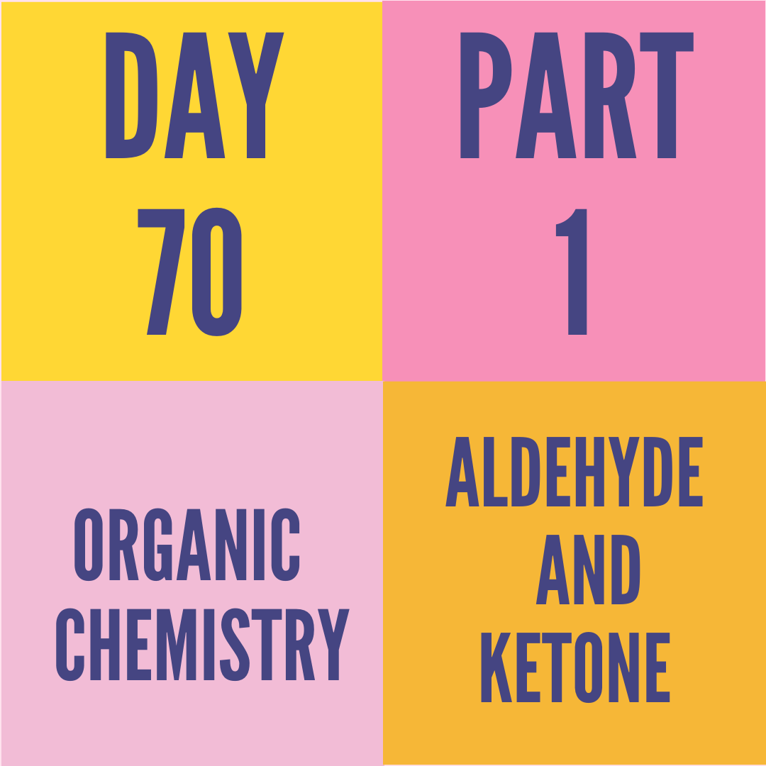 DAY-70 PART-1 ALDEHYDE AND KETONE