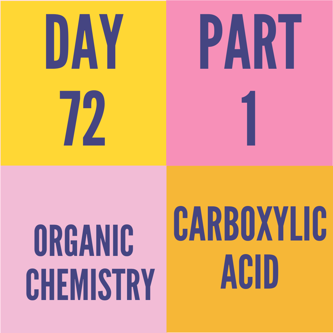 DAY-72 PART-1 CARBOXYLIC ACID