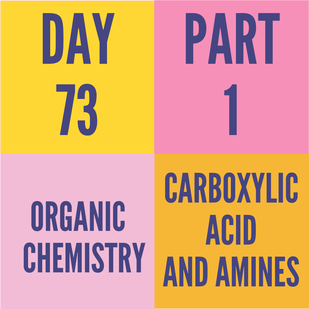 DAY-73 PART-1 CARBOXYLIC ACID AND AMINES