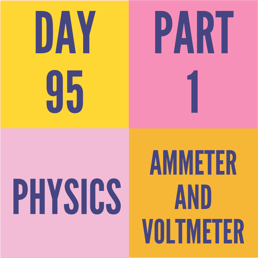 DAY-95 PART-1 AMMETER AND VOLTMETER