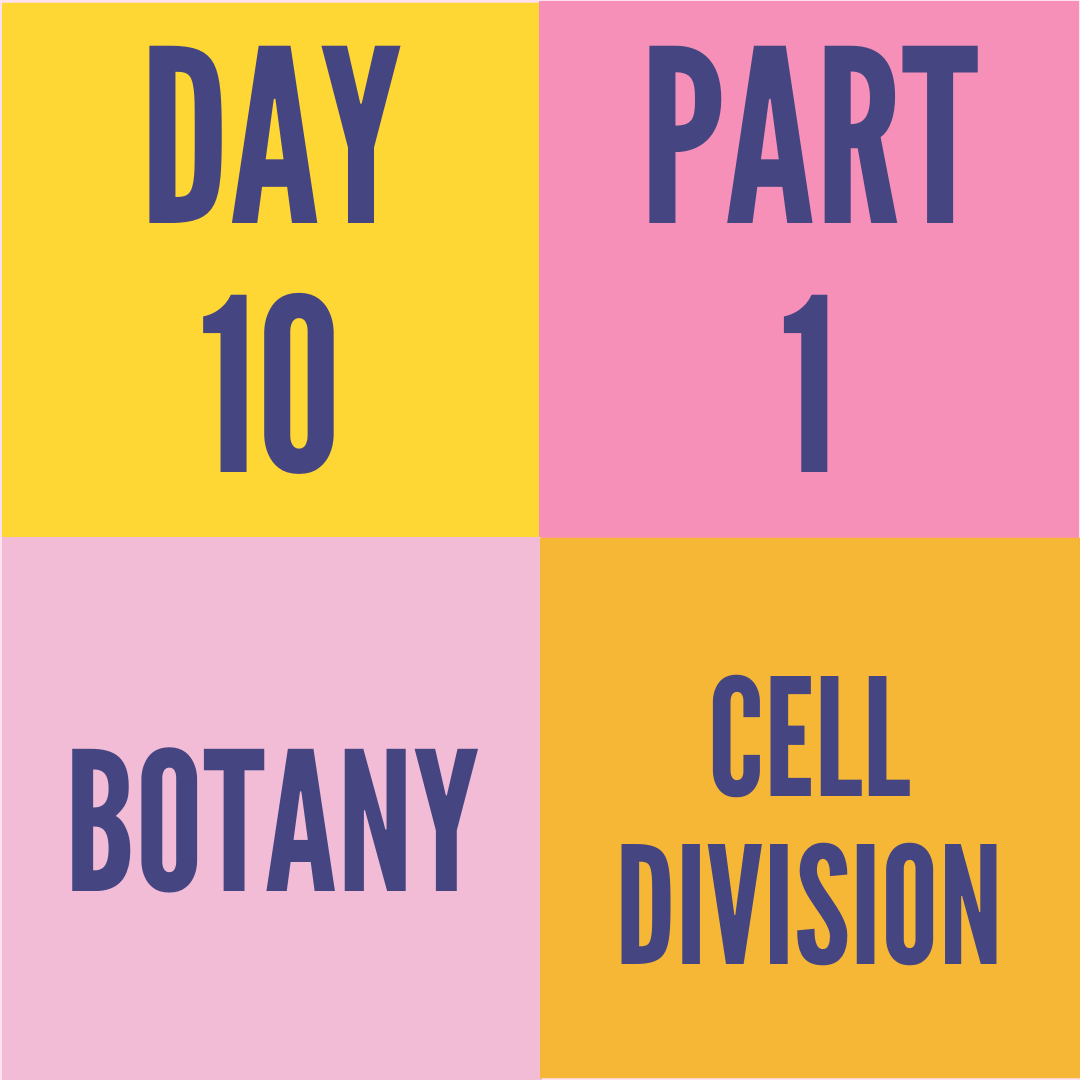 DAY-10 PART-1 CELL DIVISION