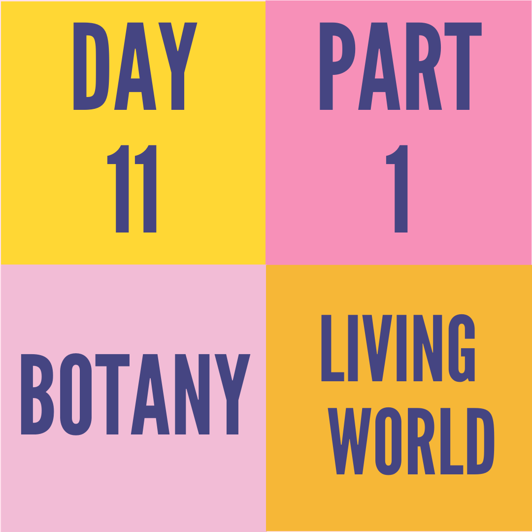 DAY-11 PART-1 LIVING WORLD
