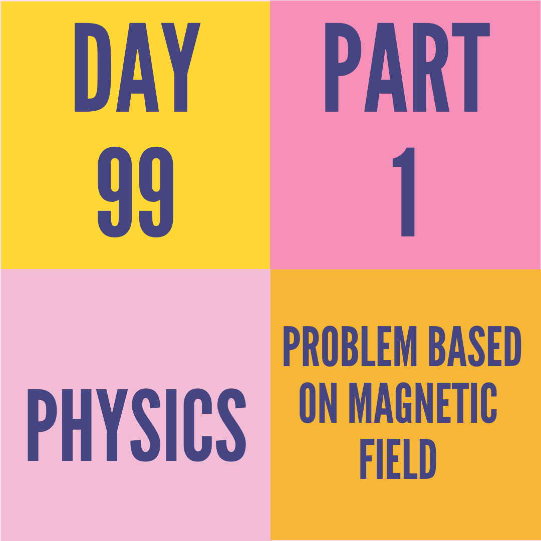 DAY-99 PART-1 PROBLEM BASED ON MAGNETIC FIELD
