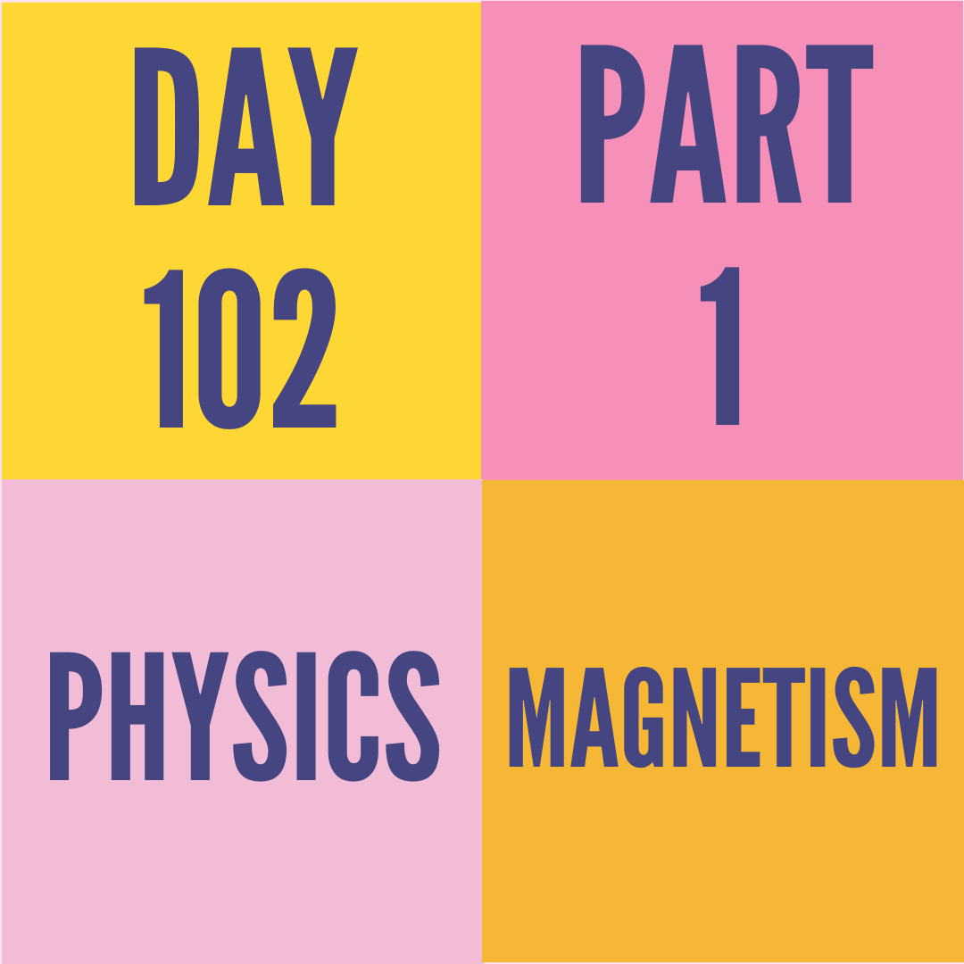 DAY-102 PART-1 MAGNETISM