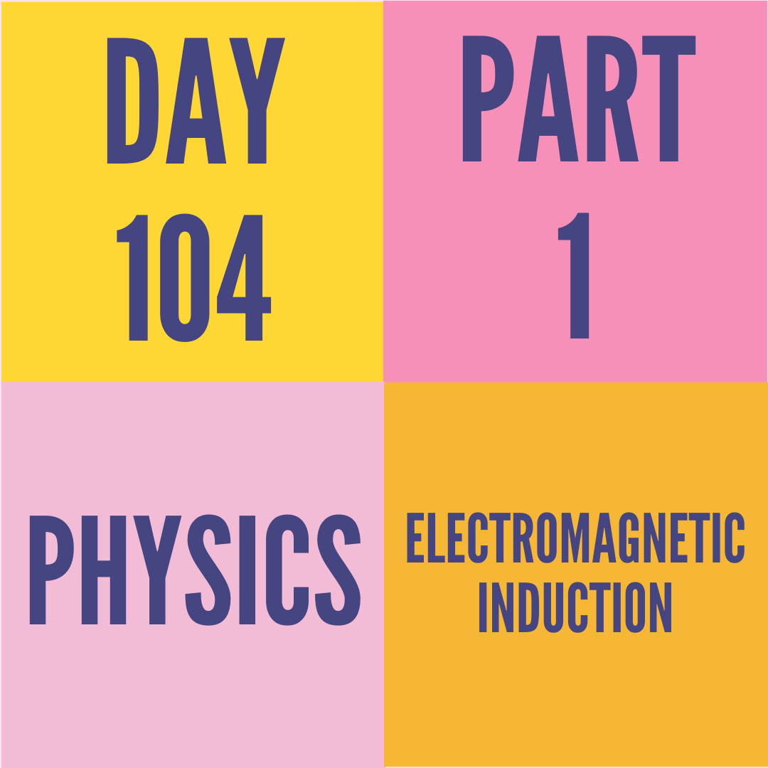 DAY-104 PART-1 ELECTROMAGNETIC INDUCTION