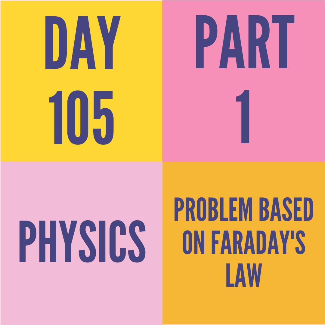 DAY-105 PART-1 PROBLEM BASED ON FARADAY'S LAW