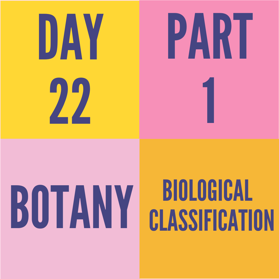 DAY-22 PART-1 BIOLOGICAL CLASSIFICATION