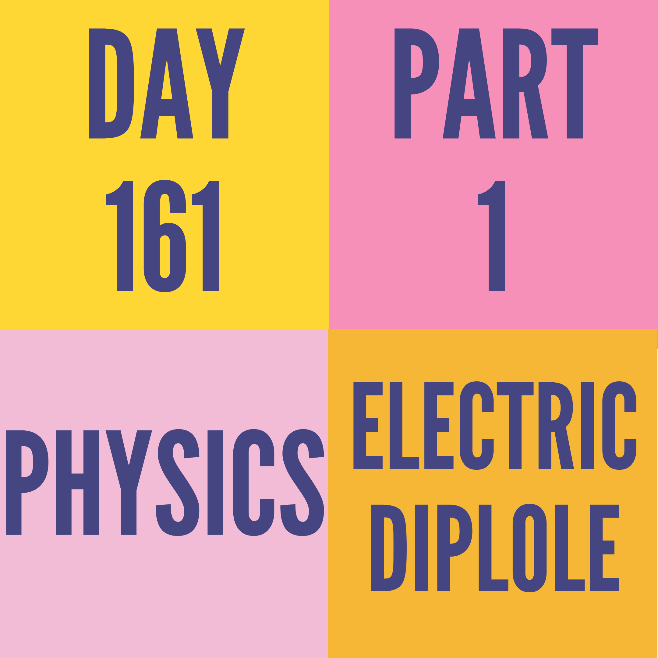 DAY-161 PART-1 ELECTRIC DIPOLE