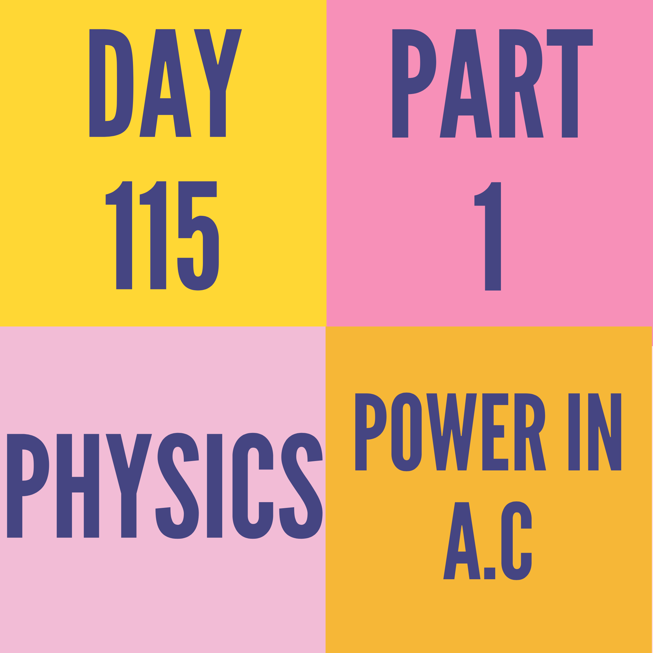 DAY-115 PART-1 POWER IN A.C