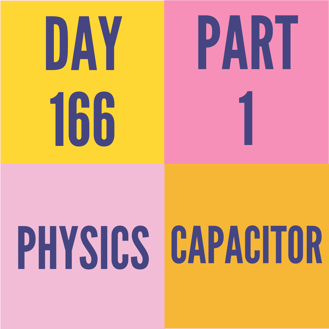 DAY-166 PART-1 CAPACITOR