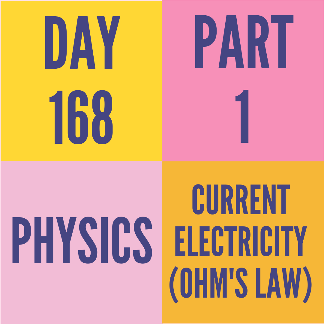 DAY-168 PART-1 CURRENT ELECTRICITY (OHM'S LAW)