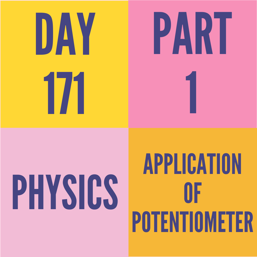 DAY-171 PART-1 APPLICATION OF POTENTIOMETER