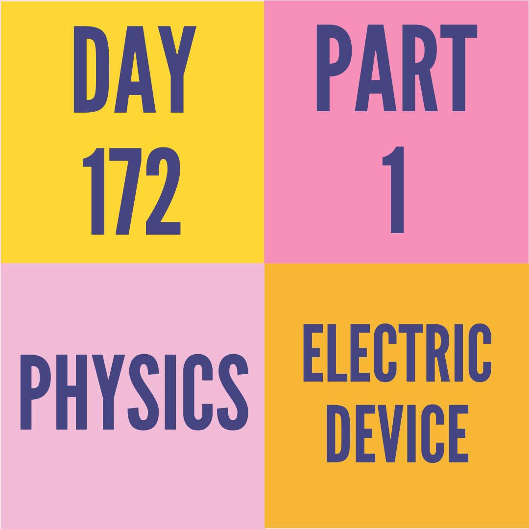 DAY-172 PART-1 ELECTRIC DEVICE
